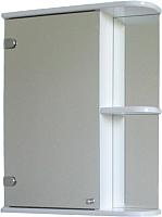 Шкаф с зеркалом для ванной СанитаМебель Камелия-09.45 (левый, белый) -