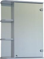 Шкаф с зеркалом для ванной СанитаМебель Камелия-09.55 (правый, белый) -