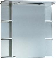 Шкаф с зеркалом для ванной СанитаМебель Камелия-10.70 Д2 (правый, белый) -