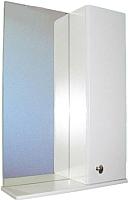 Шкаф с зеркалом для ванной СанитаМебель Камелия-11.50 Д2 (правый, белый) -