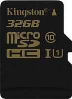 Карта памяти Kingston microSDHC (Class 10) 32GB (SDCA10/32GBSP) -