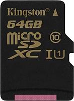 Карта памяти Kingston microSDXC UHS-I U1 (Class 10) 64GB (SDCA10/64GBSP) -