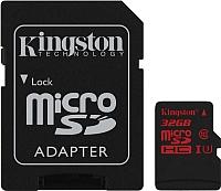 Карта памяти Kingston microSDHC (Class 10) 32GB + адаптер (SDCA3/32GB) -