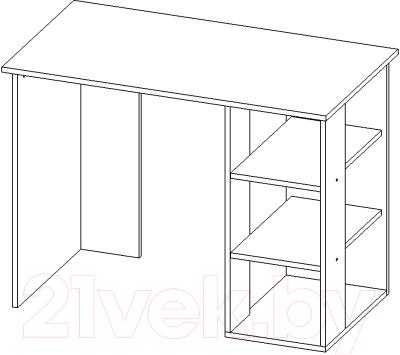 Письменный стол Мебель-Класс Имидж-1 (Ясень шимо темн./светл. №1)