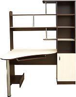 Компьютерный стол Мебель-Класс Соната (правый, венге/дуб шамони) -