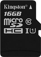 Карта памяти Kingston microSDHC UHS-I (Class 10) 16GB (SDC10G2/16GBSP) -