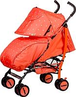 Детская прогулочная коляска Babyhit Smiley (коралловый/звезды) -