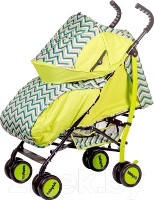 Детская прогулочная коляска Babyhit Smiley (зеленый/зигзаг)