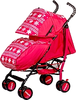 Детская прогулочная коляска Babyhit Smiley (фиолетовый/цветы) -