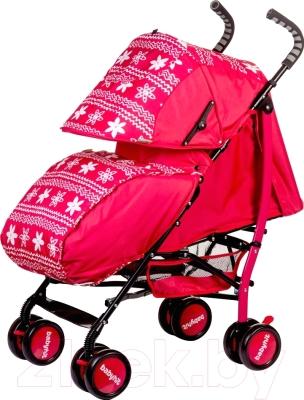 Детская прогулочная коляска Babyhit Smiley (фиолетовый/цветы)