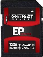 Карта памяти Patriot SDHC UHS-I 128Gb (PEF128GSXC10233) -