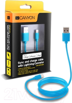 Кабель USB Canyon CNS-MFICAB01BL