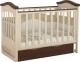 Детская кроватка Miracolo Viva (кремовый/коричневый) -