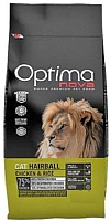Корм для кошек Optimanova Hairball Chicken & Rice (2кг) -