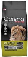 Корм для кошек Optimanova Hairball Chicken & Rice (8кг) -