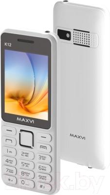 Мобильный телефон Maxvi K12 (белый)