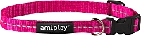 Ошейник Ami Play Reflective AMI163 (S, розовый) -