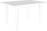 Обеденный стол Black Red White Вайт 140 (ясень снежный) -
