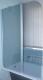 Стеклянная шторка для ванны Coliseum SC-02 (матовое стекло) -