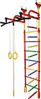 Детский спортивный комплекс Формула здоровья Жирафик-3А Плюс (красный/радуга) -