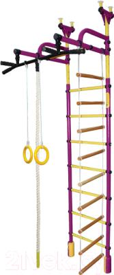 Детский спортивный комплекс Формула здоровья Жирафик-3А Плюс (фиолетовый/желтый)