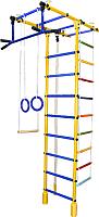 Детский спортивный комплекс Формула здоровья Атлант-3С Плюс (желтый/синий) -