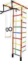 Детский спортивный комплекс Формула здоровья Атлант-3С Плюс (оранжевый/радуга) -