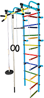 Детский спортивный комплекс Формула здоровья Лира-4К Плюс (голубой/радуга) -