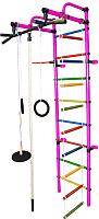 Детский спортивный комплекс Формула здоровья Лира-3К Плюс (розовый/радуга) -