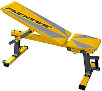 Скамья многофункциональная Flexter Оптима (желтый/серебристый) -