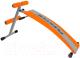 Скамья для пресса Flexter FLS 014A (оранжевый/серебристый) -