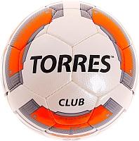 Футбольный мяч Torres Club F30035 (бежевый/оранжевый/серый) -