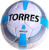 Футбольный мяч Torres Match F30024 (белый/серебристый/голубой) -