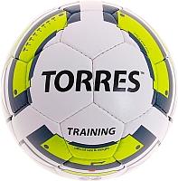 Футбольный мяч Torres Training F30054 (белый/зеленый/серый) -