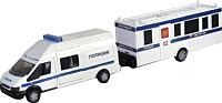 Масштабная модель автомобиля AutoTime Rescue Van Полиция с прицепом 48738 -