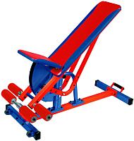Скамья многофункциональная Формула здоровья Аванта (красный/синий) -