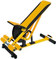 Скамья многофункциональная Формула здоровья Аванта (желтый/черный) -