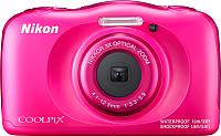 Компактный фотоаппарат Nikon Coolpix W100 (розовый) -