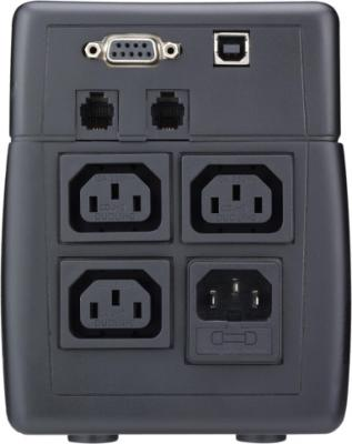 ИБП Mustek PowerMust 800 USB - вид сзади