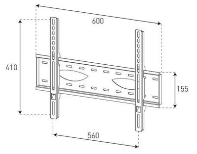 Кронштейн для телевизора Sonorous Surefix 230 - габаритные размеры
