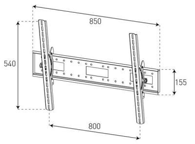 Кронштейн для телевизора Sonorous Surefix 340 - габаритные размеры