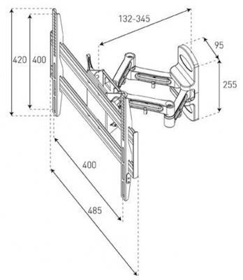 Кронштейн для телевизора Sonorous Surefix 530 - габаритные размеры
