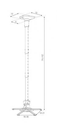 Кронштейн для проектора Sonorous Surefix 920 - габаритные размеры