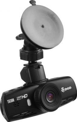 Автомобильный видеорегистратор DOD TG300 - общий вид с креплением