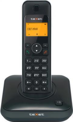 Беспроводной телефон TeXet TX-D6105A Black - вид спереди