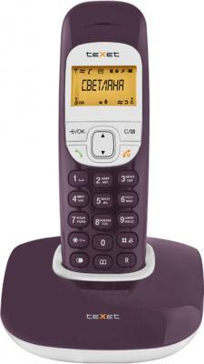 Беспроводной телефон TeXet TX-D6505A Aubergine - вид спереди