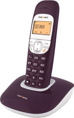 Беспроводной телефон TeXet TX-D6505A Aubergine - вид сбоку