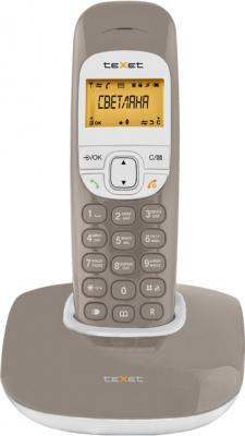 Беспроводной телефон TeXet TX-D6505A Taupe - вид спереди