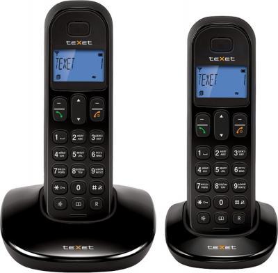 Беспроводной телефон TeXet TX-D6805A Duo Black - вид спереди