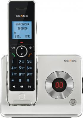 Беспроводной телефон TeXet TX-D7465 Black-Silver - вид спереди